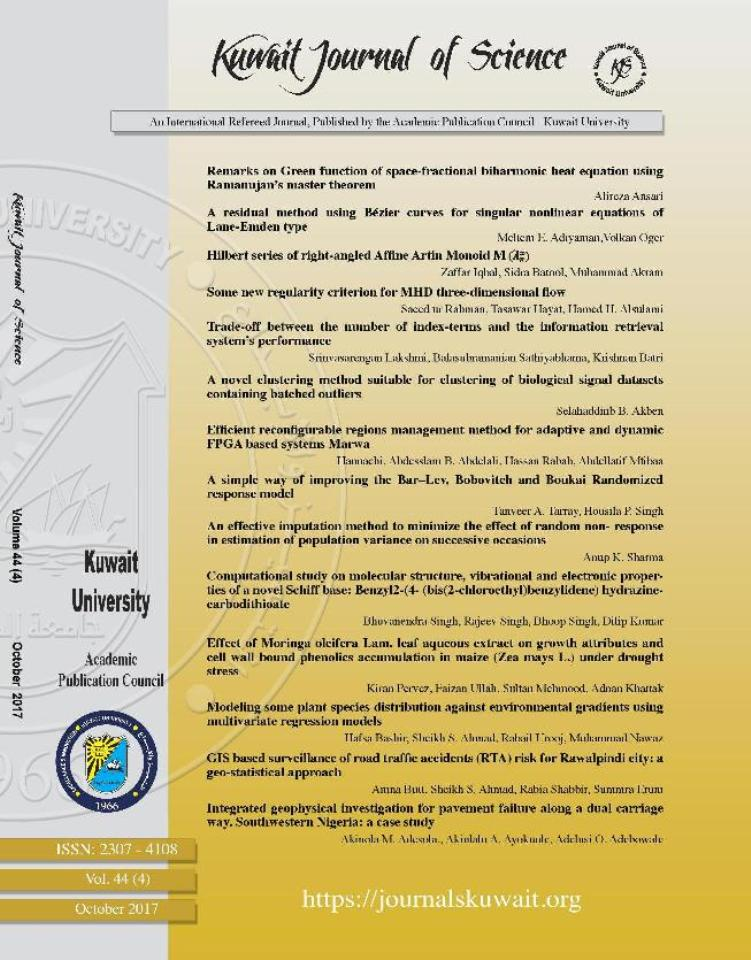View Vol. 44 No. 4 (2017): Kuwait Journal of Science (KJS)