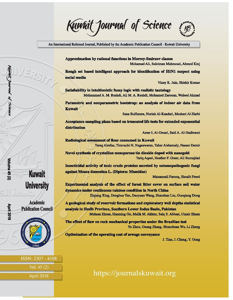 View Vol. 45 No. 2 (2018): Kuwait Journal of Science