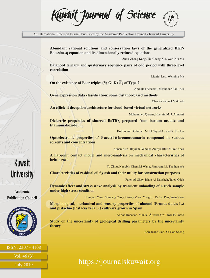 View Vol. 46 No. 3 (2019): Kuwait Journal of Science