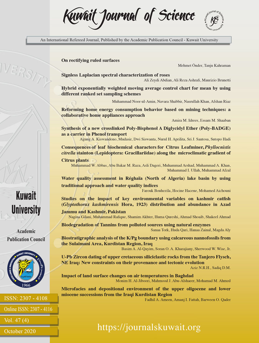 View Vol. 47 No. 4 (2020): Kuwait Journal of Science