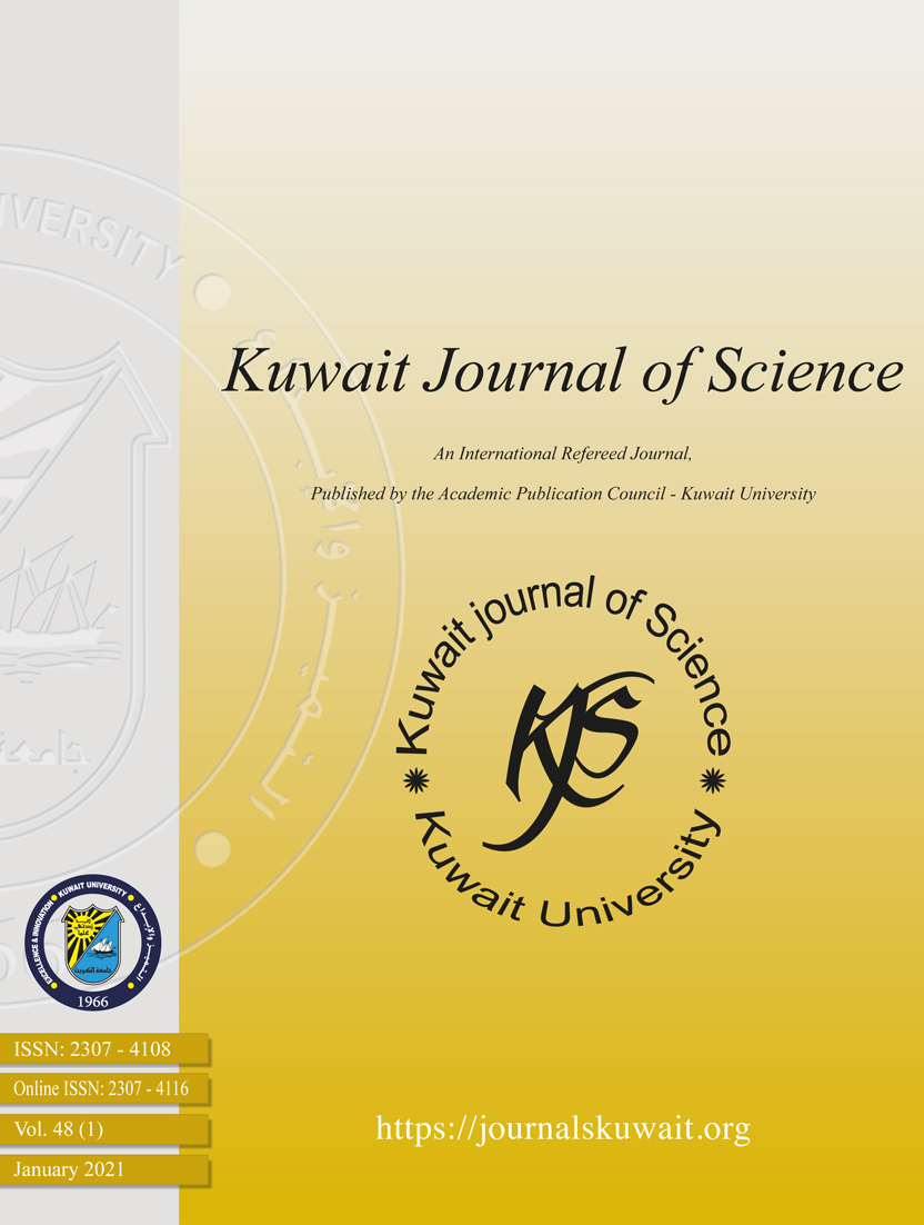 View Vol. 48 No. 1 (2021): Kuwait Journal of Science